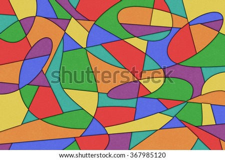 A Cubist Abstract Background with Swirling Lines - stock photo