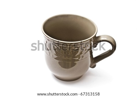 A cup isolated on white background