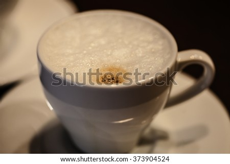 A cup of cafe' latte