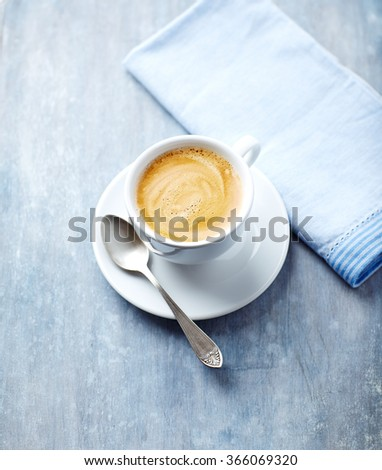 A cup of caffe crema - stock photo