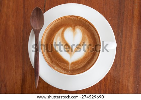A cup of coffee latte. - stock photo