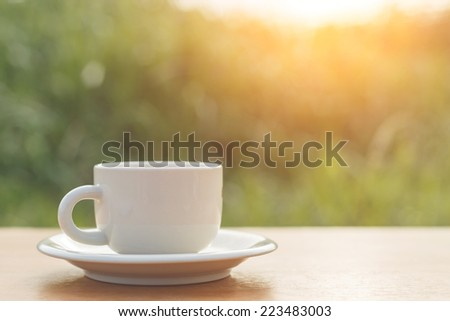 A cup of coffee on the table