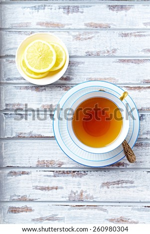 A cup of earl grey tea - stock photo