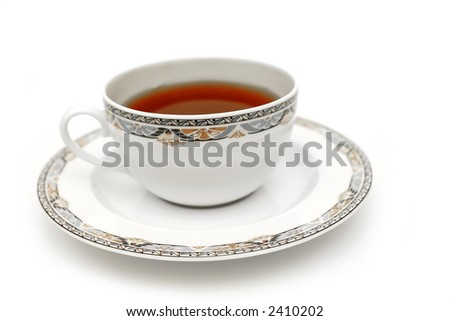 A cup of fresh brewed hot tea - stock photo