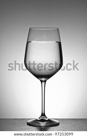 A cup of fresh water with gradient background