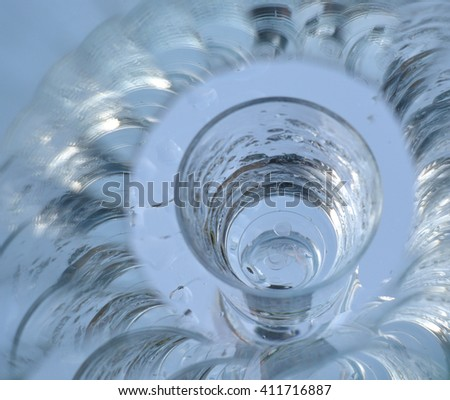 a cup of pure water, abstract background