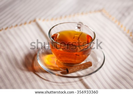 a cup of tea - stock photo