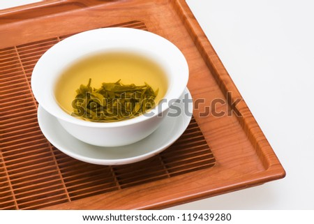 a cup of tea tray