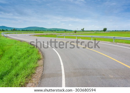 A Curvy Road Of Fresh Green in country town , Similar letters S