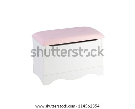 A cute stool chair designed to have a box under the seat for keeping stuffs - stock photo