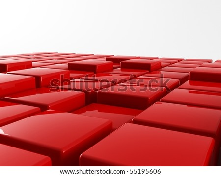 A 3d box grafic on a white background - stock photo