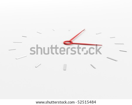 a 3d clock on a white background - stock photo