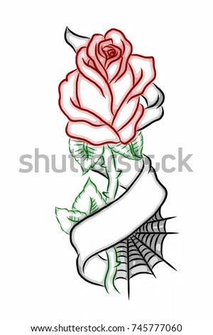 Tattoo Drawings Of Roses With Banners