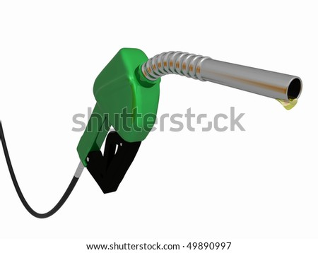 a 3d green gas pump