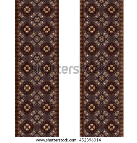 A 3d illustrated texture of a beaded border for fabric or clothing. - stock photo