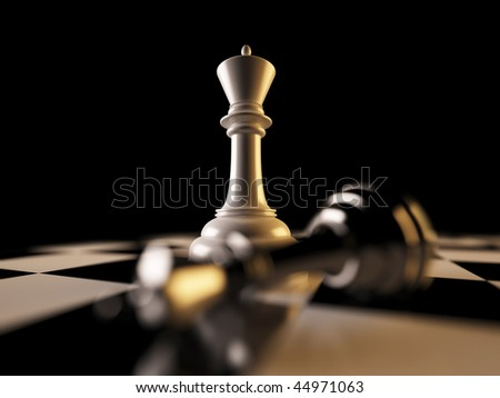 A 3d illustration of Checkmate concept. - stock photo