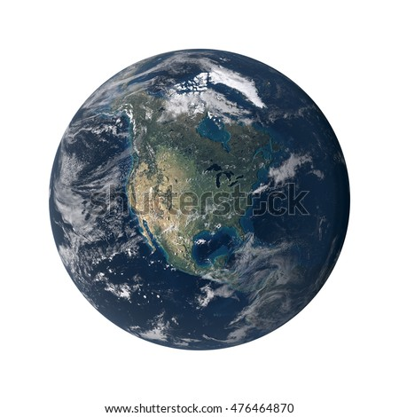 A 3D illustration of earth from space, isolated on a white background and focused on Africa. Elements of this image furnished by NASA.