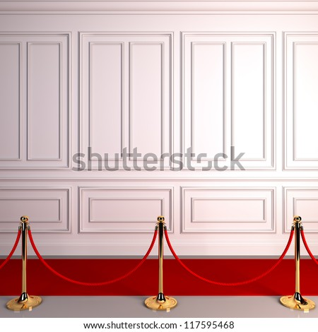 A 3d illustration of red carpet abstract awards. - stock photo