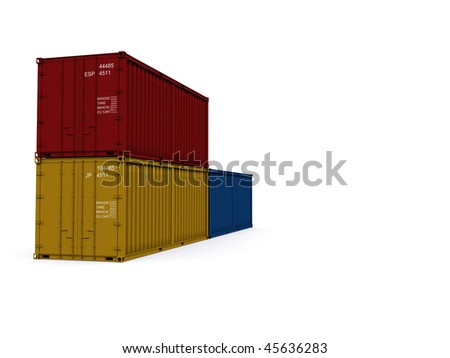 A 3d made Container on a white background
