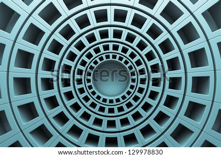a 3d render of abstract rounds background