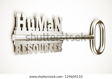 a 3d render of key with words, creative idea