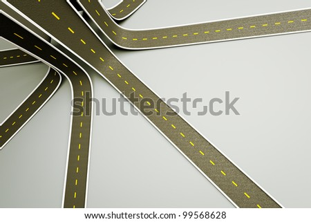a 3d render of road up, creative idea - stock photo