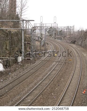 A dangerous curve. - stock photo