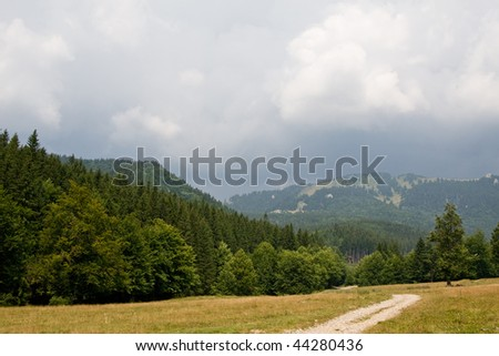 a day in the mountains - stock photo