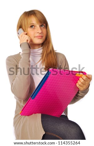 A day of daily life at school or in the office - 140 - stock photo