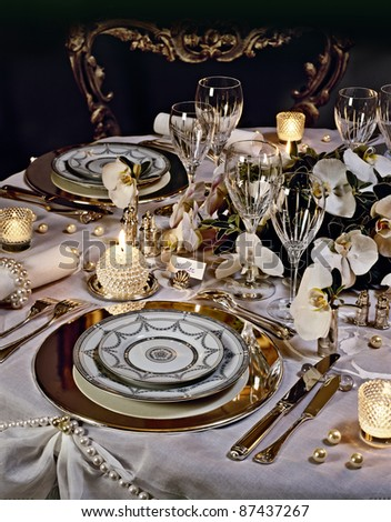 A decorated christmas dining table