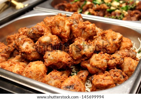 A Delicious southern golden brown fried chicken - stock photo