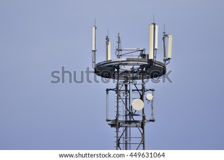 A detail from a radio mast - stock photo