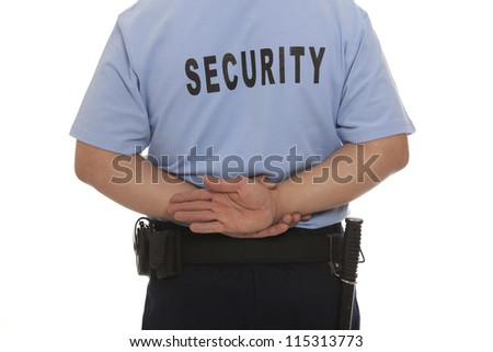 A detail of a security guard