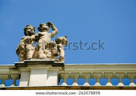 A detail of the New Palace in the Sanssouci Park in Potsdam, Germany - stock photo