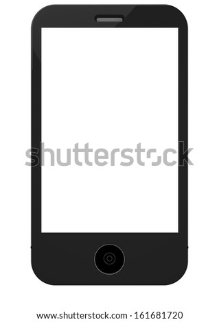 a detail phone blank stand vertically - stock photo