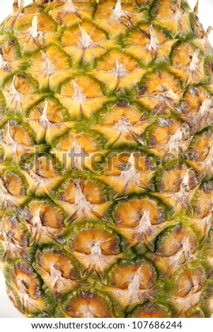 A detail view of pineapple shell texture - stock photo