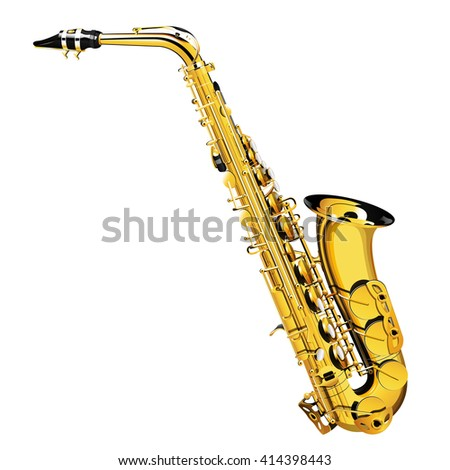 a detailed illustration of a saxophone