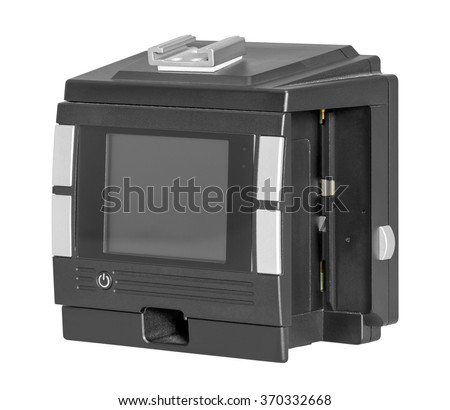 a digital camera back isolated on white