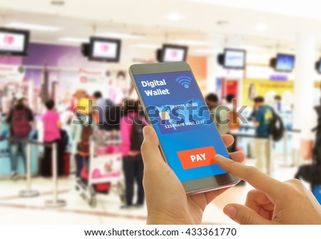 A digital wallet to pay for goods and services to convenient and fast. - stock photo