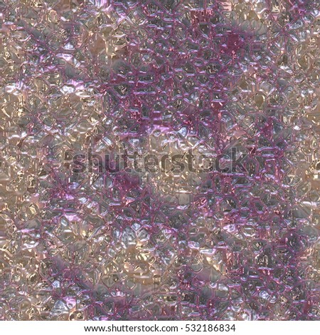 A digitally created seamless tile of a metallic and iridescent pattern that could be shell or foil.