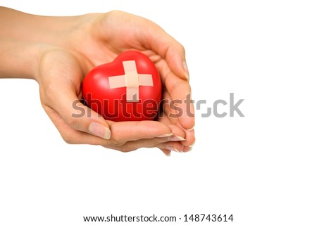 a diseased heart - stock photo