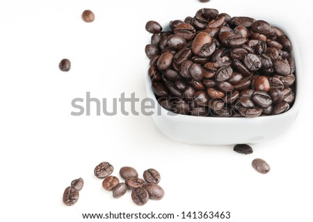 A dish of coffee and other scattered