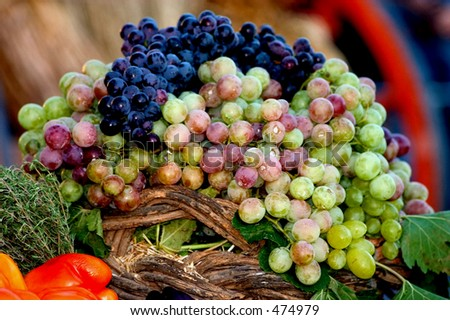 A display of grapes