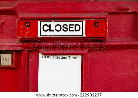 a disused british red letter box