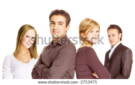 a diverse team with diverse members - stock photo