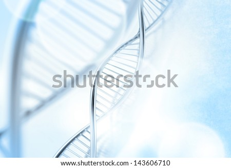 a dna in medical colour background - stock photo