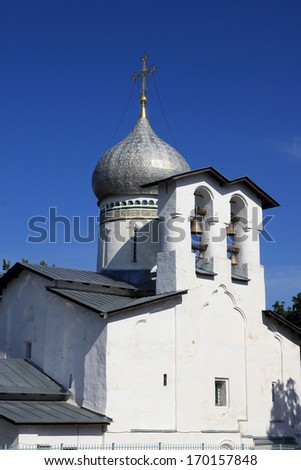 A dome of Orthodox church - stock photo