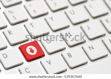 A download enter button key. - stock photo