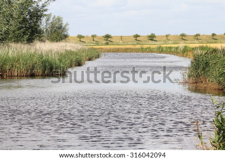 a drainage channel in the Netherlands