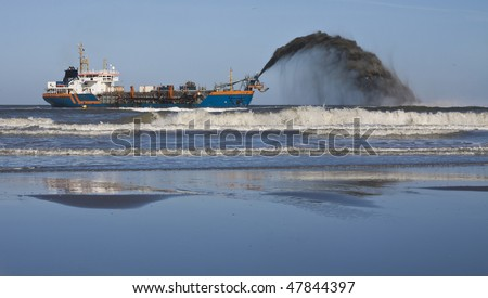a dredger Rain bowing